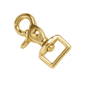Square Eye Rein Snap Brass