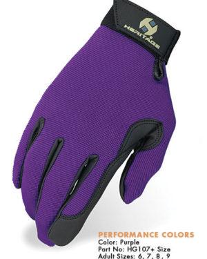 Heritage Performance Gloves - Purple