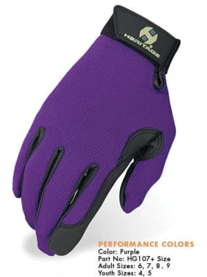 Heritage Performance Gloves - Purple