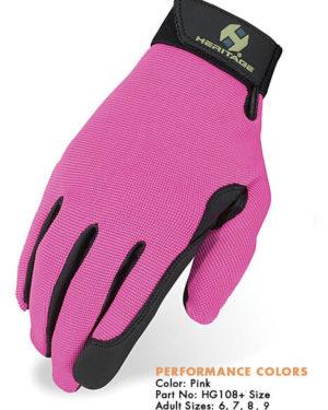 Heritage Performance Gloves - Pink