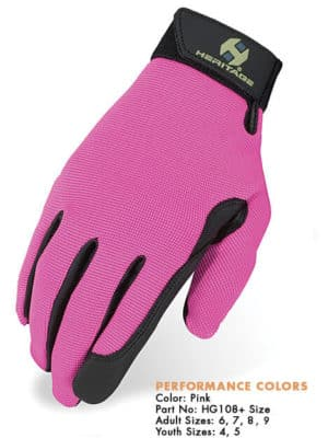 Heritage Performance Gloves - Pink