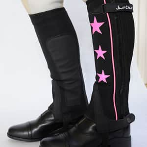 Neoprene Half Chap with Pink Stars