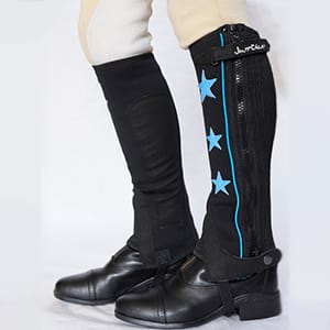 Neoprene Half Chap with Blue Stars